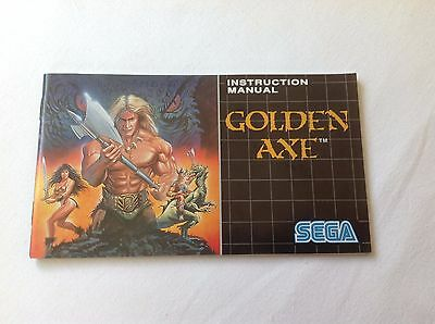 Golden Axe - Instruction Manual - Sega Mega Drive
