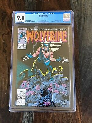 Wolverine #1 - CGC Graded: 9.8 - 1st Wolverine as Patch - RARE (1988)