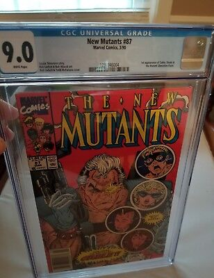 New Mutants 87 first Cable Liefeld cgc 9.0