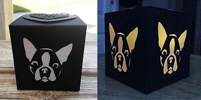 Boston Terrier Gift LED Flameless Candle Luminary