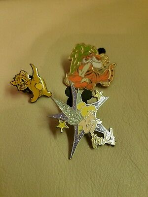Disney collectible lapel pins. Lot of 3. Vintage. Free shipping.