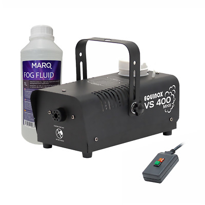 Atmotech VS400 MKII Smoke Machine Fogger + Remote & 1 Litre Fog Fluid Halloween