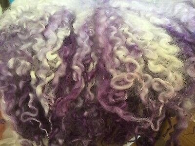 Hand dyed Wensleydale Cotswold X locks'  'Fading Mauve' 15gm