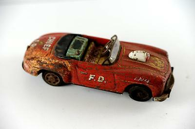 Fire Cheif tin car  (1/24 scale) 1960's battery operated