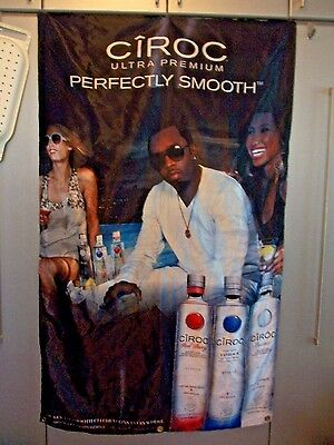 Huge Rare 2010 Ciroc Vodka Puff Daddy~Rapper P.diddy Advertising Banner Flag