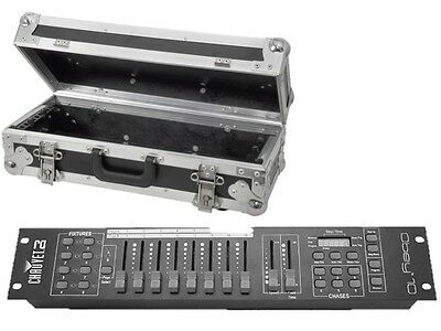 Chauvet Obey 10 DMX Lighting Controller Light Desk 128 CH Disco DJ & Flightcase