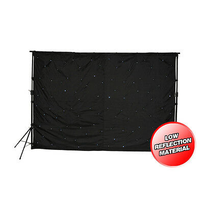 LEDJ Star Cloth 3m x 2m DJ backdrop LED starcloth inc stands & controller STAR01