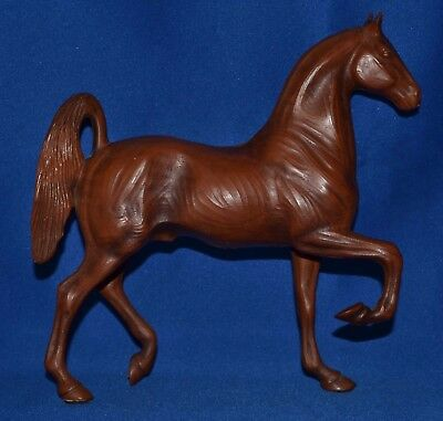 "Hartland Horse~1965-67~Walnut Woodcut 7"" Saddlebred Stallion~Wood cut~RARE"