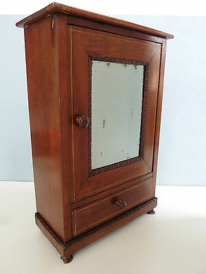 Antique MINIATURE ARMOIRE DOLL FURNITURE French Cabinet Louis Philippe Style