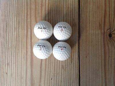 UNUSED Vintage Royal Plus Six Golf Balls In Set  Of Four