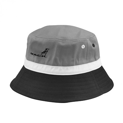 Mack Trucks Grey and black Bucket hat with bulldog logo