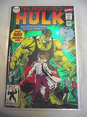 Incredible Hulk #393 30th anniversary issue 1st print Green foil cover FN