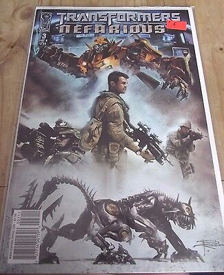 IDW Transformers Nefarious #3 cover A VF/NM