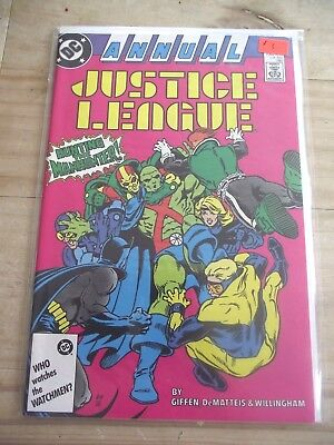 Justice League Annual #1 Hunting the Manhunter DC (1987) VF/NM