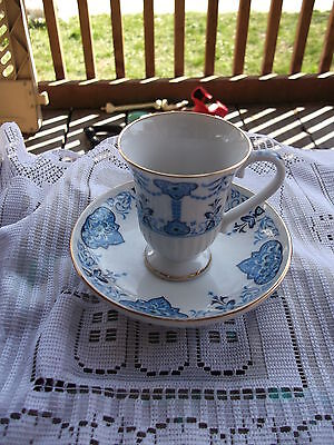 1984 AVON European Tradition Collection mini Cup & Saucer Medici 1650 pattern