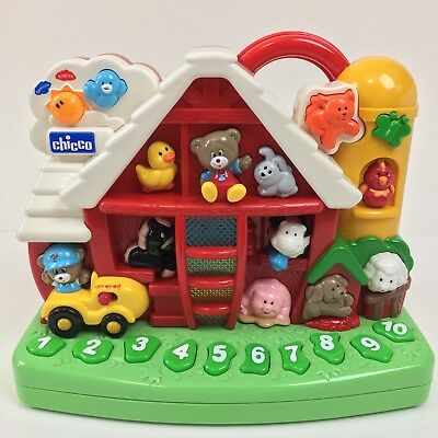 Chicco Toys Talking Farm English & Spanish Lights Sounds Numbers Animals