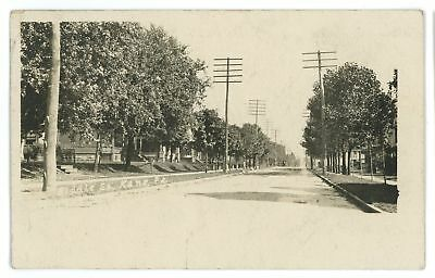RPPC Biddle Street View KANE PA McKean County Pennsylvania Real Photo Postcard