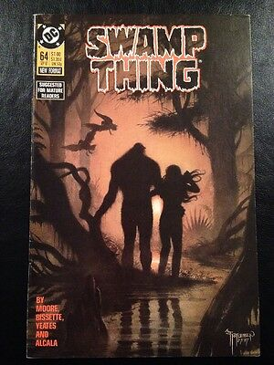 Swamp Thing #64 FN/VF 7.0 Grade Last Alan Moore Issue