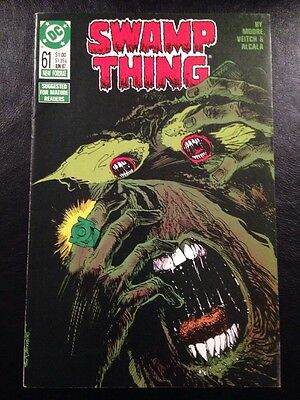 Swamp Thing #61 FN+ 6.5 Grade Alan Moore