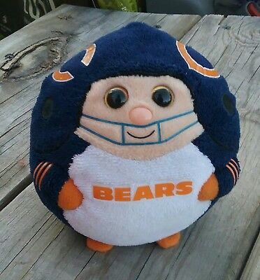 "Small 5"" Ty Chicago Bears Beanie Ballz Plush"