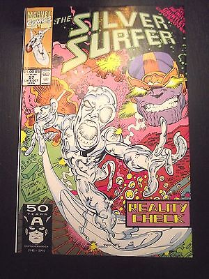 Silver Surfer #57 Reality Check Infinity Gauntlet Crossover Thanos VG