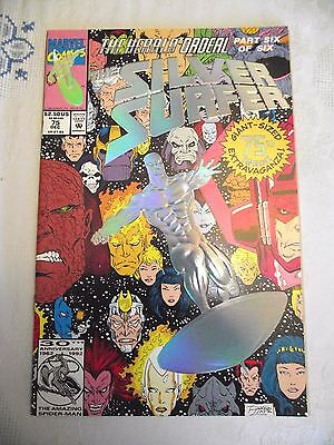 Silver Surfer #75 The Herald Ordeal Part 6 (of 6) Over-sized issue Foil cover VF