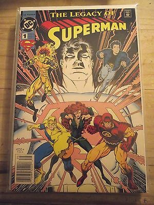 The Legacy of Superman #1 DC 1993 Newsstand edition VFNM