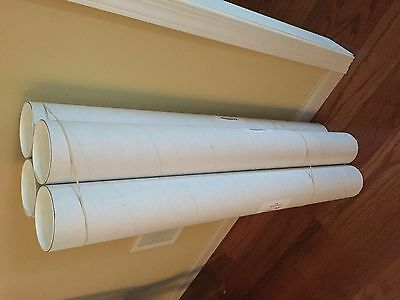 Tubes ~ White ~ Cardboard ~ Mailing / Shipping w/caps ~ 104 total