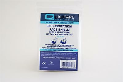 Qualicare Resuscitation Face Shield for Mouth to Mouth CPR