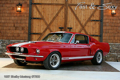 Red 1967 Ford Mustang Shelby Cobra GT500