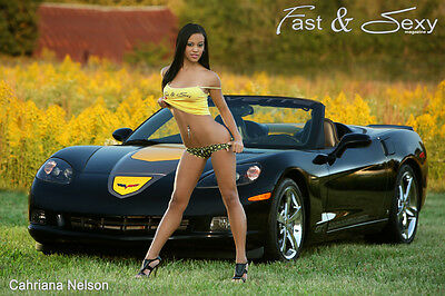 Cahriana Nelson w/ 2009 Corvette GT1 Championship Edition poster