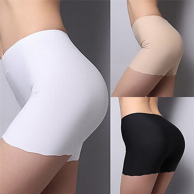 Summer Women's Seamless Safety Shorts Hot Leggings Pants Button Free Size