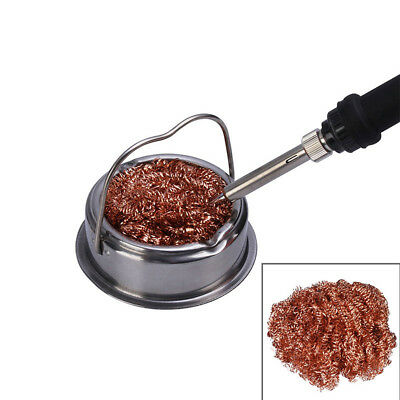 Spiral Wire Cleaning Tool Nozzle Soldering Tip Cleaning Ball & Base Tip Cleaner