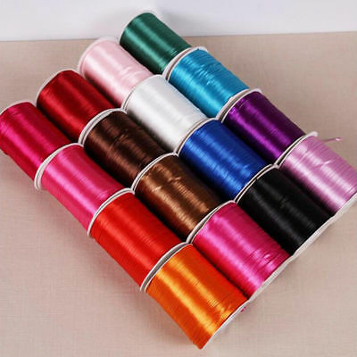 DIY String Teething Necklace Accessory Satin Silk Cord For Jewellery Making