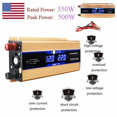Solar Power Inverter 500W 12V DC To 220V AC Modified Sine Wave Converter USB