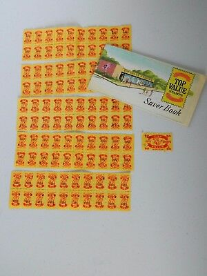 Top Value Yellow Trading Stamps with collection booklet