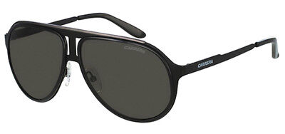 Carrera Men's Black Ruthenium Pilot Sunglasses w/ Grey Lens 100S 0HKQ NR