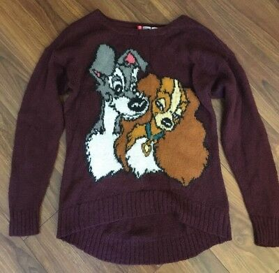 Divided Disney Sweater Sweatshirt Lady and the Tramp Sz 6