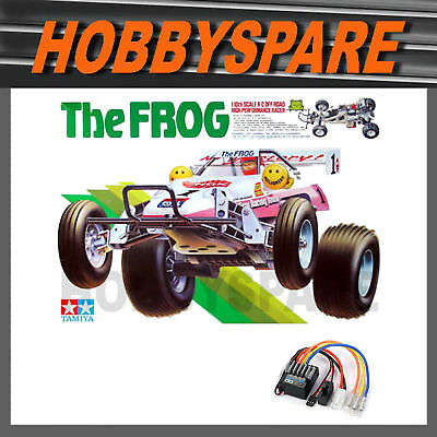 NEW TAMIYA THE FROG 1/10 RC 2WD OFFROAD BUGGY KIT 58354 w TBLE02 ESC BEST OF 80s