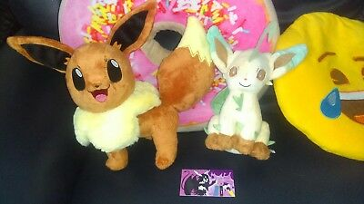 Lot de 2 Peluches Pokemon Evoli et Phyllali TOMY