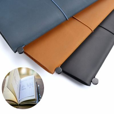 Journal Diary Weekly Notebook Blank Notepad Genuine Leather Planner Book