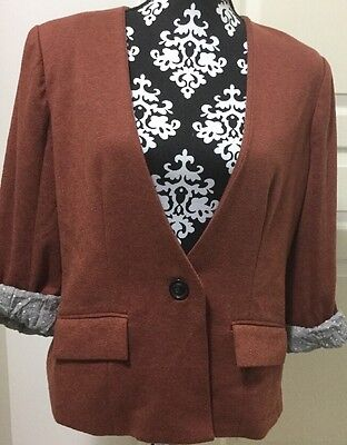 Anthropologie Cartonnier Sans Collar Blazer