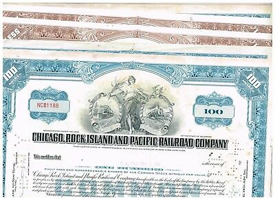 Wholesale-Lot 21 Chicago, Rock Island and Pacific RR VCCo., 1960s, blue and brow