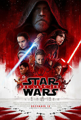 Star Wars The Last Jedi Theatrical Movie Poster Ridley Mark Hamill Skywalker