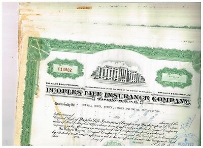 Wholesale-Lot 15 Peoples Life Insurance Co., 1960s