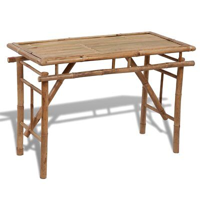 #Folding Outdoor Garden Bamboo Table Dining Indoor Cafe Kitchen Rectangle Patio