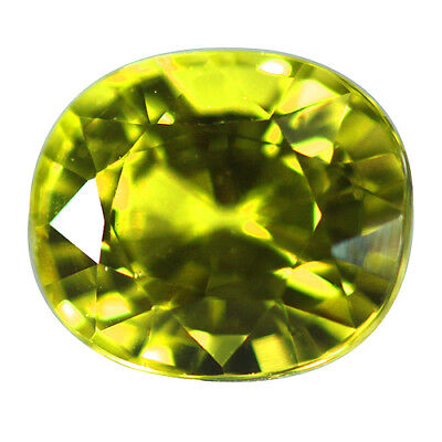 2.15ct Electrify Oval Natural Apple Green Chrysoberyl