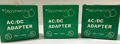 Department 56 Item #55026 Village Accessory Ac/dc Adapter White 3 Prong - Qty. 1