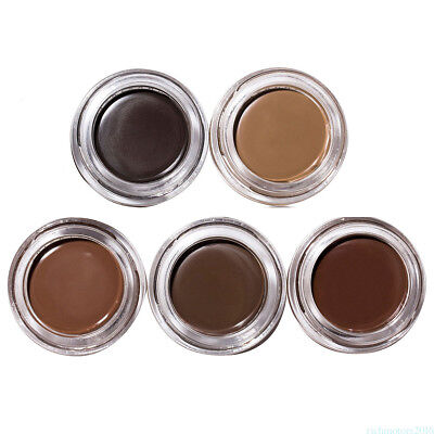 Pomade Eyebrow Gel in Various Shade With Double Sided Eyebrow Brush HDSR3