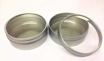12 x 125ml Tin Metal Pot container, clear window lid- crafts,candles, Empty